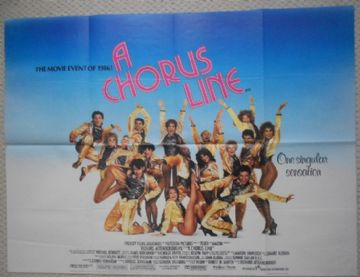 Vintage Film Posters for Sale - A Chorus Line | UK Quad